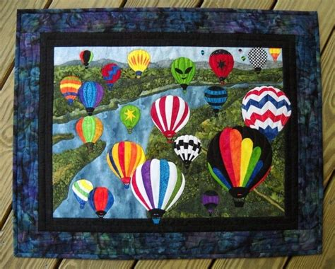 How To Make A Quilt Wall Hanging by Handmade Air Balloons Wall Hanging Quilt By Sue