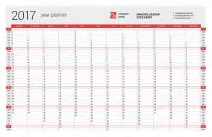 annuale parete calendario planner modello per l anno 2017