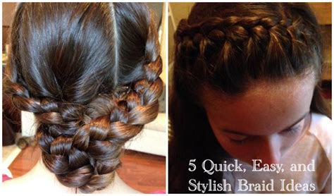 easy hairstyles for school mornings and easy 5 minute braids for busy school mornings