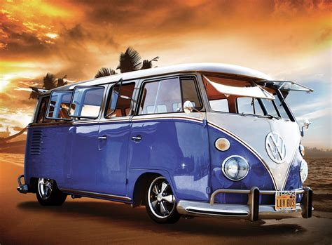 Mickey Mouse Wall Murals volkswagen camper van sunset wall mural buy at