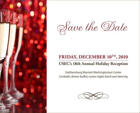 holiday save the date templates google search gmr