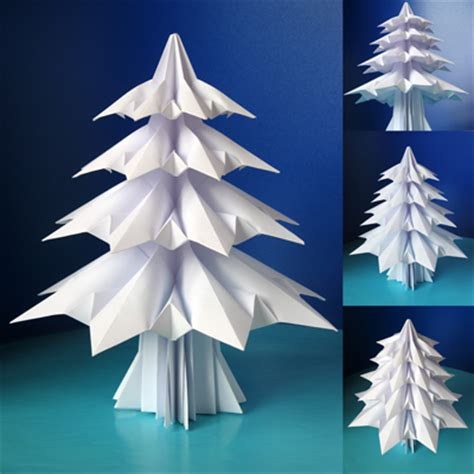 Folding Paper Trees - 12 01 2011 01 01 2012 how about orange