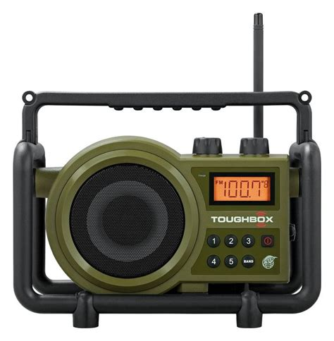 rugged portable radio sangean tb100 rugged outdoor portable am fm radio toughbox rechargeab