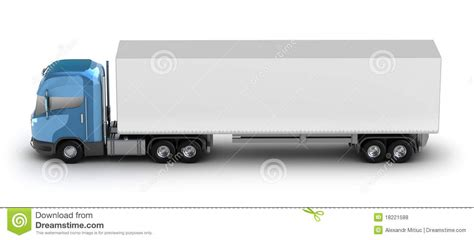 my trailer blue truck with trailer my own design royalty free stock