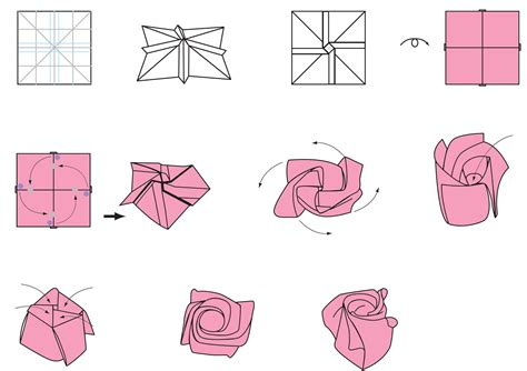 origami carnation simple origami flower steps www pixshark images
