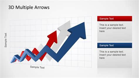 7196 01 4 step arrow diagram 1 slidemodel 3d arrows upswing trend for powerpoint slidemodel