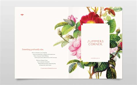 a florist is advertising five types of bouquets summers corner strada advertising