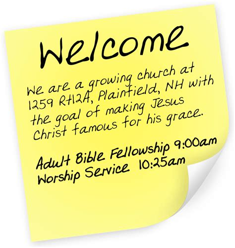 welcome message welcome message community church