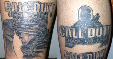 devoted cod fan gets tattoo of ghosts amp black ops 2