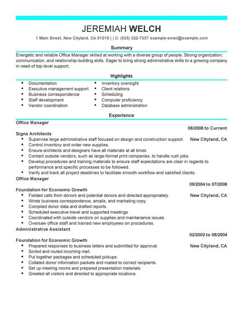 Office Administrator Resume by 16 Amazing Admin Resume Exles Livecareer