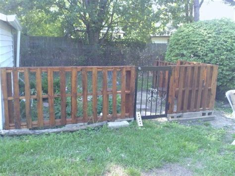Pallet Garden Fence by Pallet Fence Our Pallet Fence Garden Chicken Coup