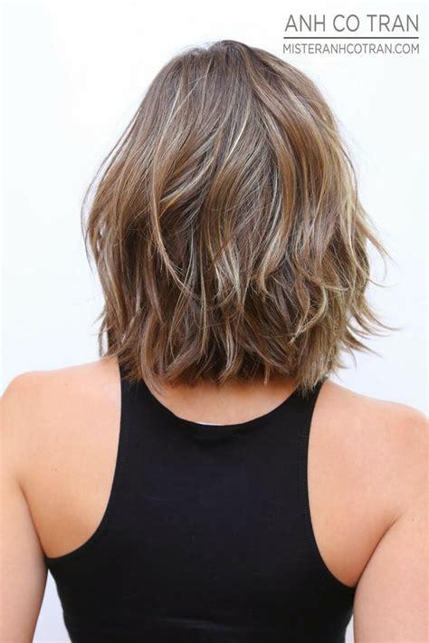 schulterlange haare gestuft modische frisuren