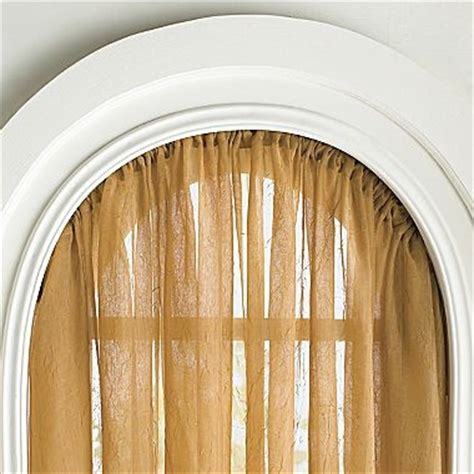 oval window curtains flexible curtain rod for arched windows kirsch 174 arch rod
