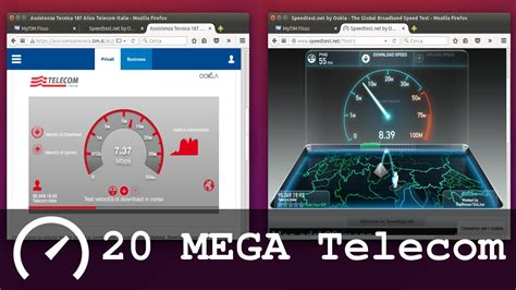 modem speed test speed test 20 mega telecom adsl tim smart