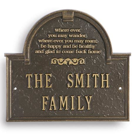 house plaques personalized wherever you may wander house plaque at signals hf7072