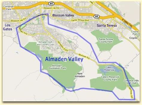 san jose map of neighborhoods meet the oak neighborhood of almaden valley in san