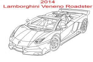 How To Draw A Lamborghini Veneno 2014 Lamborghini Veneno Roadster Line By