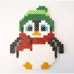 hama animals no 235 l pingouin en perles hama h a m a perles a repasser