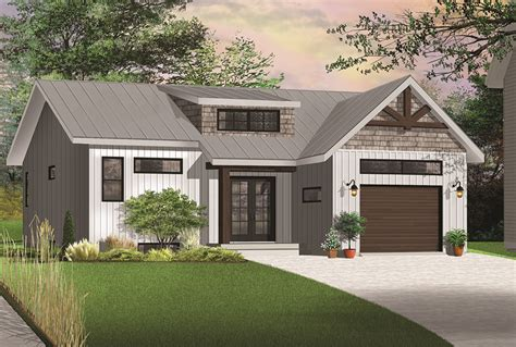 transitional house style 2 bedrm 1283 sq ft transitional house plan 126 1845