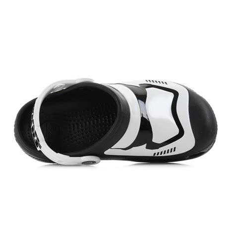 stormtrooper slippers boys crocs stormtrooper multi black white glow in the