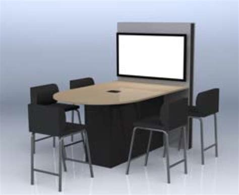 Bar Height Meeting Table Exact Bar Height Table D Shaped Collaboration Tables Collaboration Tables