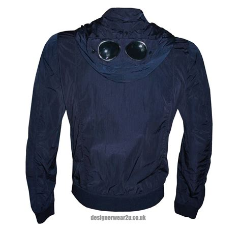 with goggles cp company navy blouson jacket with goggles jackets from designerwear2u uk
