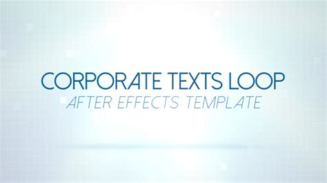 corporate after effects templates corporate texts loop after effects template
