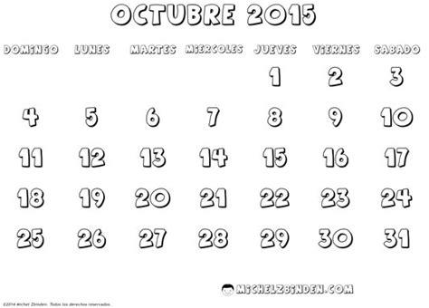 imagenes mes octubre 2015 calendarios octubre 2015 para descargar imprimir y pintar