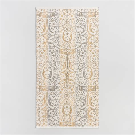 gold pattern bath towels gold and taupe ombre ariana bath towel cotton by world