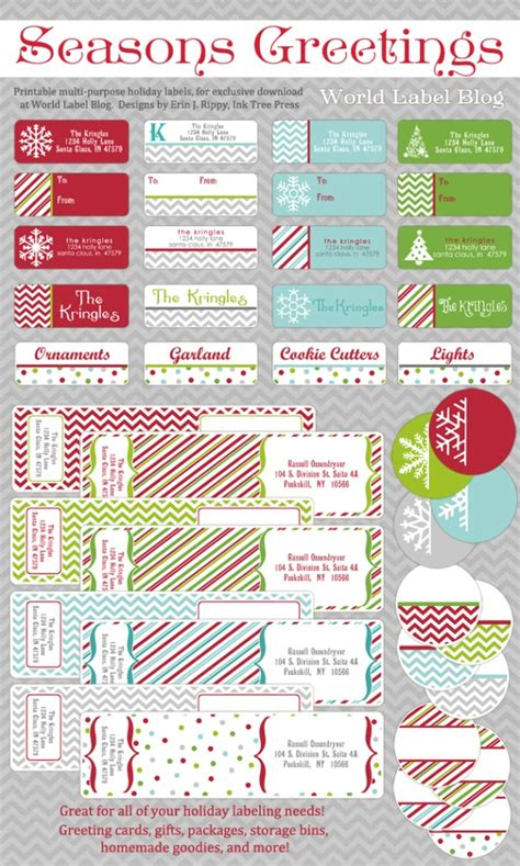 printable holiday address labels templates address label templates worldlabel blog