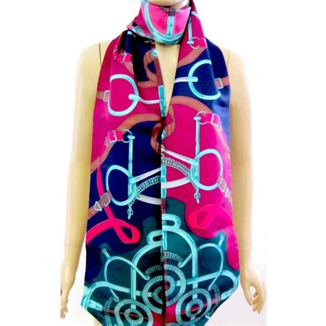 New Hermes Maxi hermes eperon d or maxi twilly silk scarf carre pink below retail at 1stdibs