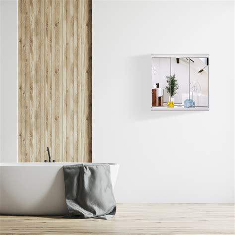 armadietto da bagno armadietto da bagno a specchio con led 3 ante pensile