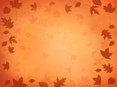 Blown Leaves Fall Powerpoint Background