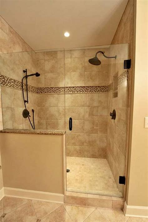 showers bathroom best 25 half wall shower ideas on bathroom