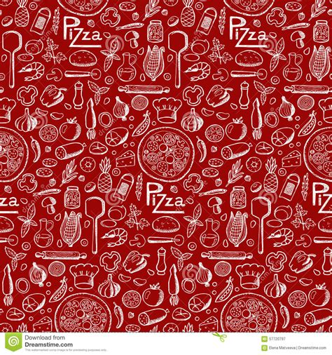 free doodle vector pattern pizza seamless doodle pattern stock vector