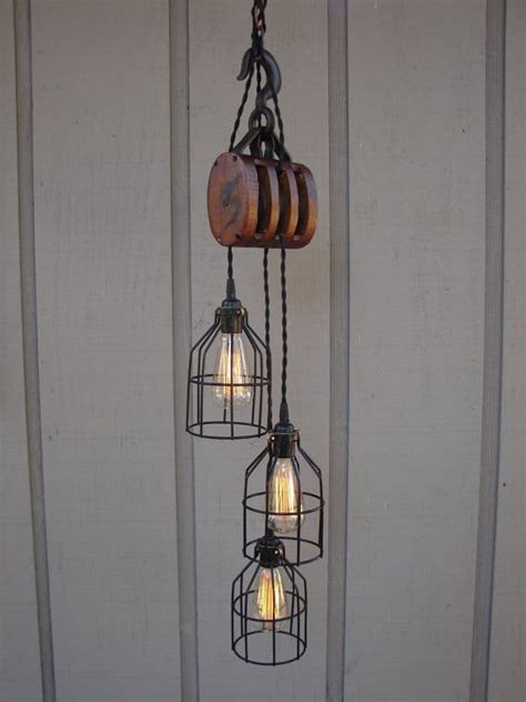 pulley light vintage farmhouse pulley light id lights