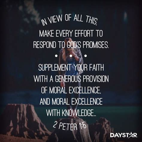 supplement your faith in view of all this make every effort to respond to god
