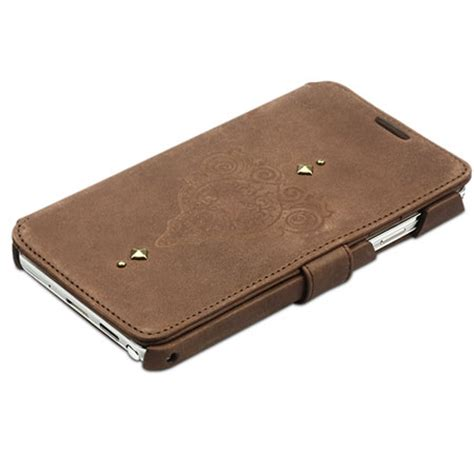 zenus retro vintage diary for samsung galaxy note 3 brown