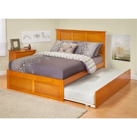 madison bed atlantic furniture madison bed with trundle in caramel