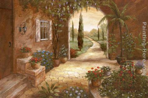 vivian flasch secret garden ii painting tuscan art