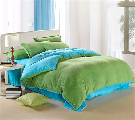 light green bedding blue and green bedding