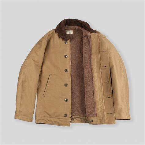 Jacket Anak N 1 the real mccoy s n 1 deck jacket khaki plain mj13111 standard strange