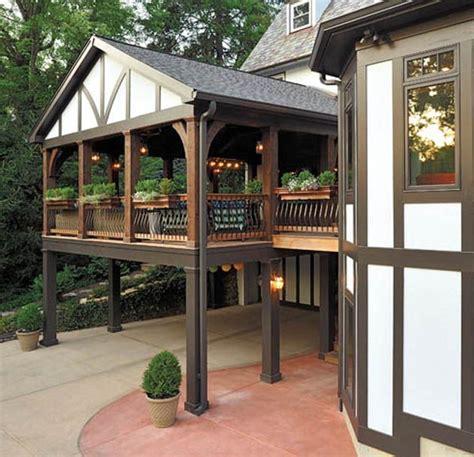 tudor terrace patio small tudor homes tudor style deck design rules the back yard tudor style porch and