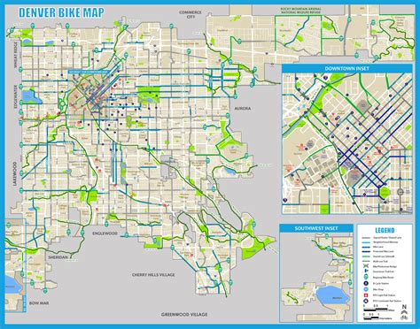 maps denver bike maps