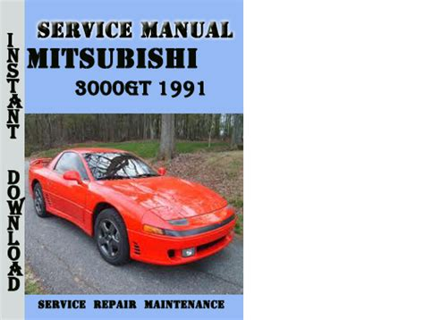 service repair manual free download 1991 mitsubishi chariot parking system mitsubishi 3000gt 1991 service repair manual pdf download