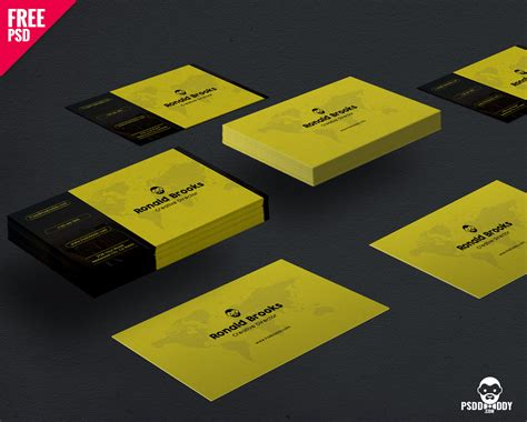 business card size template psd visiting card template free psd psddaddy