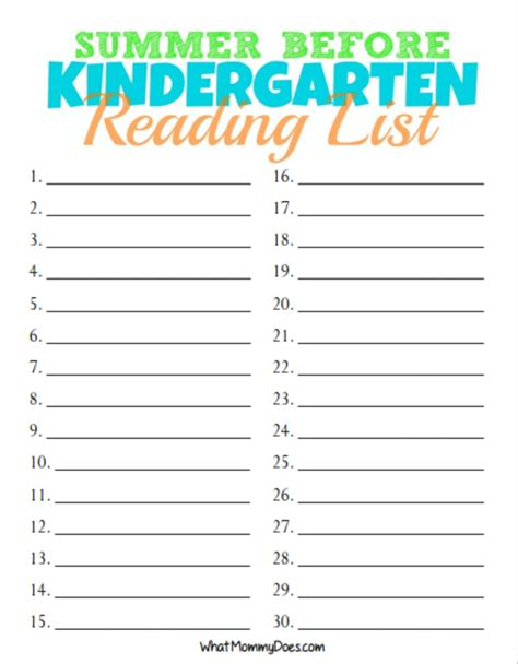 books i ve read list template free printable summer reading list for rising kindergarten