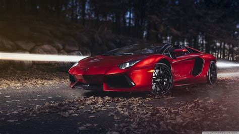 lamborghini aventador roadster sv 4k hd desktop wallpaper lamborghini aventador lp700 4 roadster red autumn 4k hd desktop wallpaper for 4k ultra hd tv