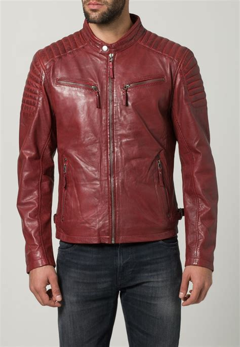red leather motorcycle jacket biker jackets men jackets