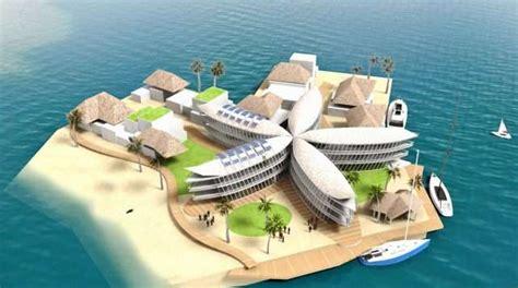 dessin bateau du futur villes du futur bient 244 t une cit 233 flottante dans un lagon